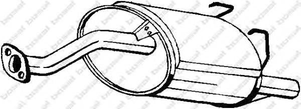 163203 Глушитель HONDA CIVIC 1.4 16V 96-01 HATCH/3