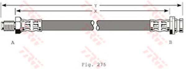phb381 Шланг тормозной