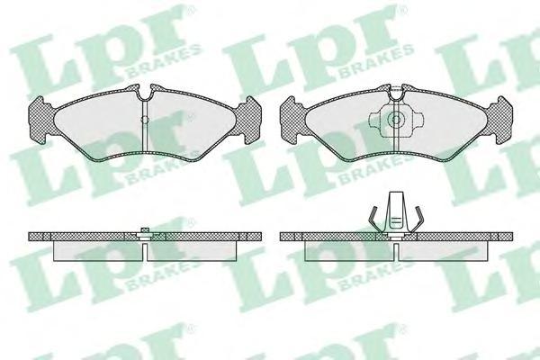 05P1614 Колодки тормозные MERCEDES SPRINTER (2-4t) 9506/VOLKSWAGEN LT 9606 задние