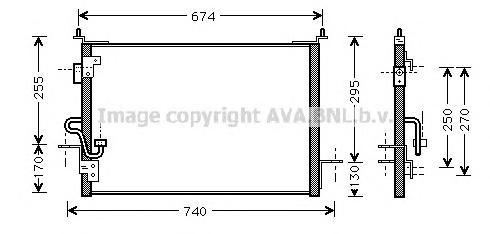AU5143 Конденсер LAND ROVER DISCOVERY 2.5/4.0/2.5 TDI 96-