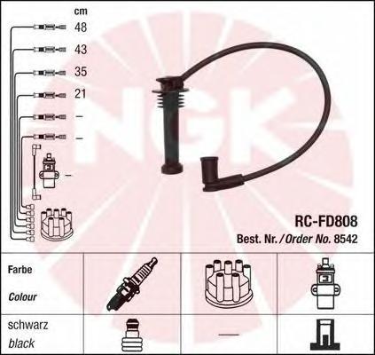 8542 Провода в/в FORD FOCUS I/MONDEO 1.8/2.0 RC-FD808