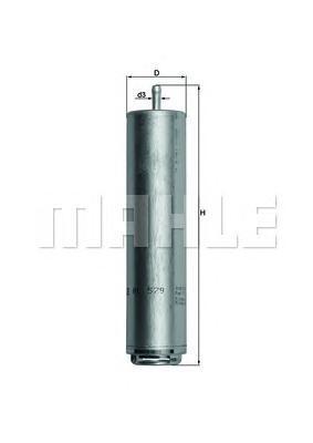 KL579D Фильтр топливный BMW DIESEL 02-