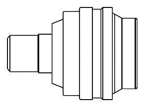 661021 ШРУС VW TRANSPORTER V 2.4D 03-09 внутр.