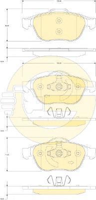 6118232 Колодки тормозные RENAULT LAGUNA 01-/SCENIC 03- передние