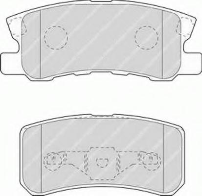 4605A502 Колодки тормозные зад АУТЛЕНДЕР XL/ASX