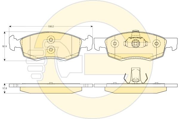 6117492 Колодки тормозные RENAULT LOGAN универсал/пикап 06- передние