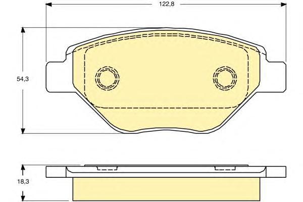 6115714 Колодки тормозные RENAULT MEGANE II 03 передние