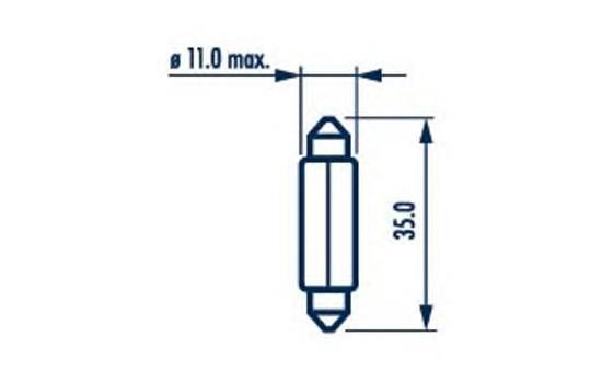17136 Лампа C5W 24V 5W (SV8,5)