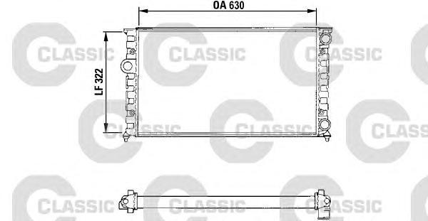 231025 Радиатор VW GOLF III 1.4-1.6 A/T 91-