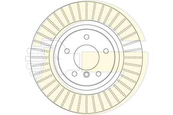 6063525 Диск тормозной BMW X3 F25 10- задний вент.D=330мм