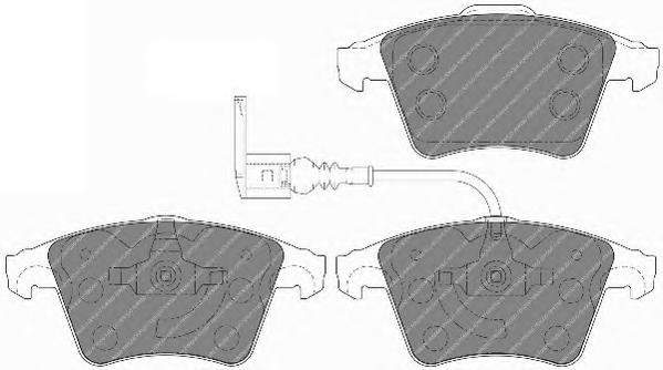 FVR1642 Колодки тормозные VOLKSWAGEN T5/MULTIVAN 03 R16 передние