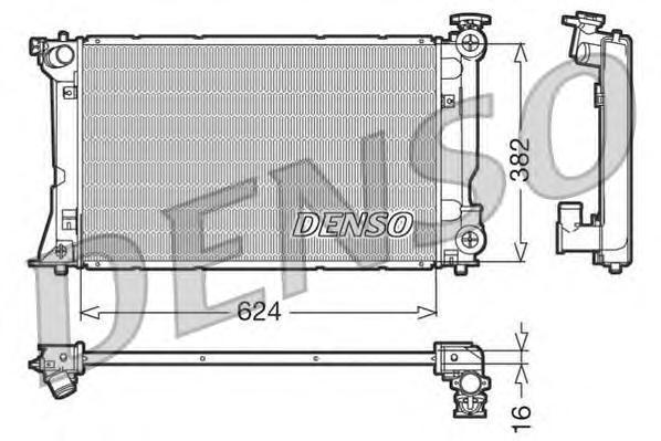 DRM50018 Радиатор системы охлаждения TOYOTA: AVENSIS 2.0I 16V