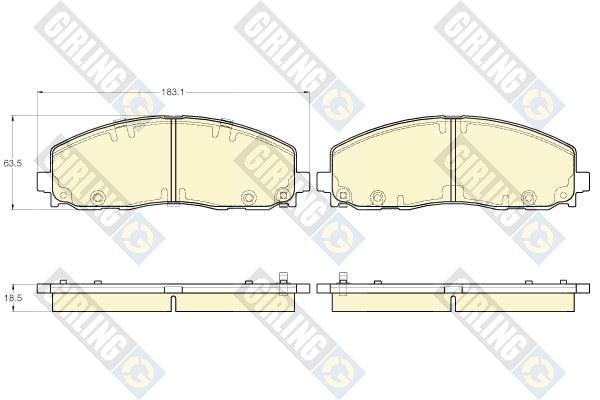 6119442 Колодки тормозные CHRYSLER GRAND VOYAGER/DODGE CARAVAN 12- передние