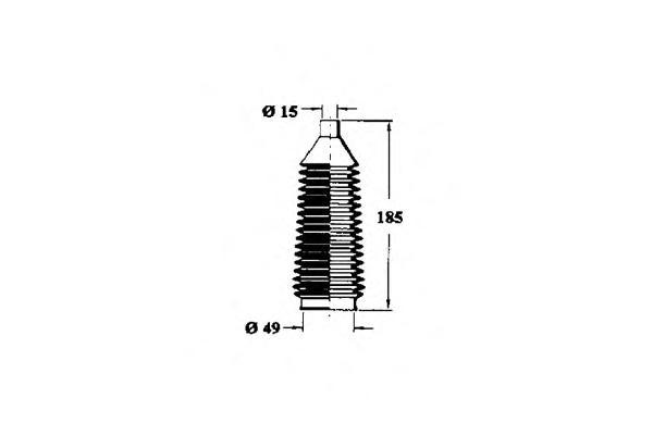 1211073 Пыльник рулевой рейки FORD: TRANSIT 85-