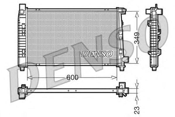 DRM17100 Радиатор системы охлаждения MERCEDES-BENZ: A-CLASS (W168) A 140 (168.031, 168.131)/A 160 (168.033, 168.133)/A 160 CDI (