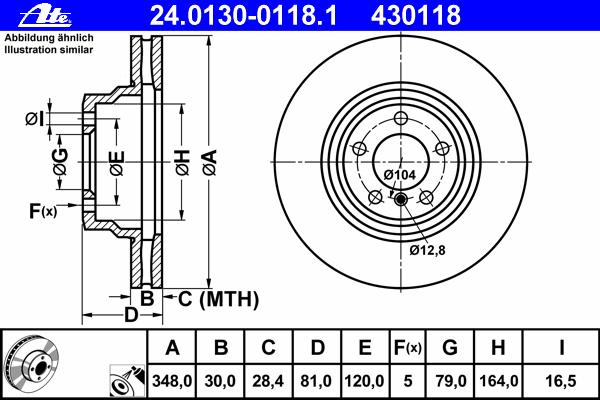 24013001181 Диск тормозной передн, BMW: 7 730 Ld/730 d/740 d/740 i,Li/745 i,Li/750 i,Li/760 i,Li 01-