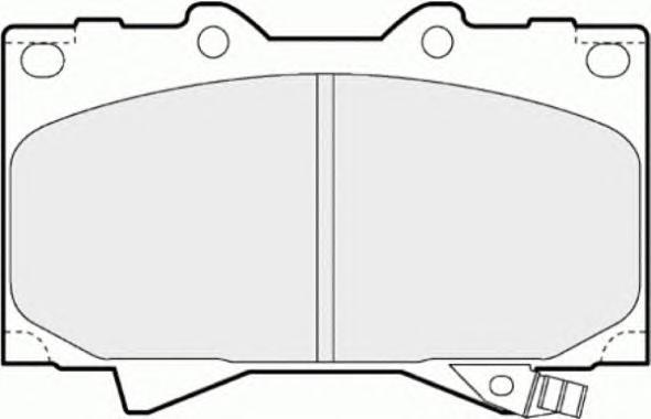 FDB1456 Колодки тормозные TOYOTA LAND CRUISER 4.2D 9098/4.2D/4.7 98 передние