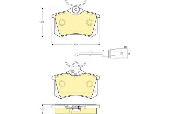 6114151 Колодки тормозные FORD GALAXY 95-06/SEAT ALHAMBRA 96-10/VW SHARAN 95-(R15)задние