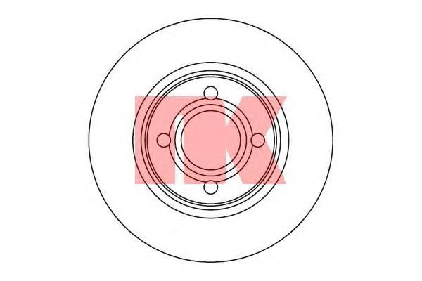 204740 Диск тормозной передний / A80 (22.0-280) ~96