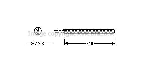 VWD210 Осушитель кондиционера VAG A3/TT 03- / GOLF/JETTA 05- / OCTAVIA/SUPERB 04-