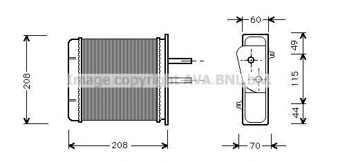 FTA6150 Радиатор отопителя FIAT PUNTO 1.1-1.6/1.7D 94-00