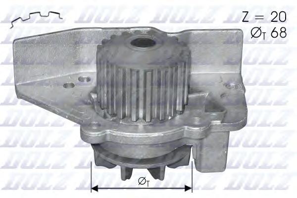 C118 Насос водяной PEUGEOT 306/406/SW 2.0i 16v 96-, CITROEN Xantia/XM/Xsara 2.0i VSX 16v CV132 93-