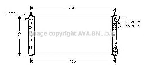 OLA2263 Радиатор системы охлаждения OPEL: CORSA B (73_, 78_, 79_) 1.0 i 12V/1.2 i 16V 93 - 00  VAUXHALL: CORSA 1.0 i 12V/1.2 i 1