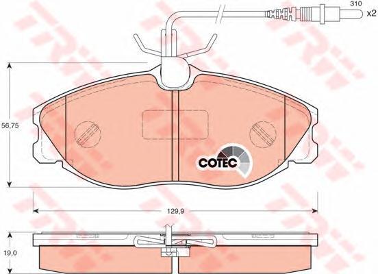 GDB1259 Колодки тормозные CITROEN XSARA/PEUGEOT 406/607 передние