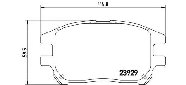 P56050 Колодки тормозные TOYOTA LEXUS RX300 00-03 передние