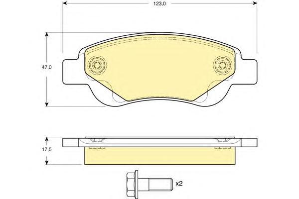 6116334 Колодки тормозные CITROEN C1/PEUGEOT 107/TOYOTA AYGO 1.0/1.4D 05- передние