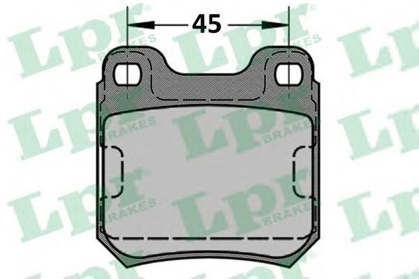 05P334 Колодки тормозные OPEL OMEGA A/B VECTRA B/SAAB 900 93-98/9-3 98-03/9-5 задние