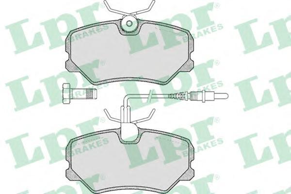 05P293 Колодки тормозные PEUGEOT 306 93-01/405 92-96/IKCO SAMAND передние
