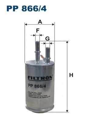 PP8664 Фильтр топливный VOLVO S80/V70/XC60/70 1.6-4.4 06-