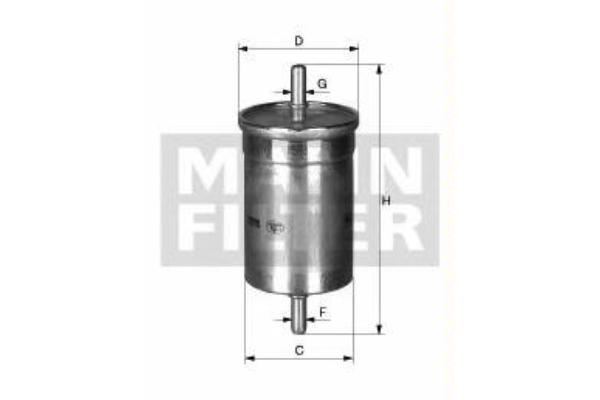 WK6002 Фильтр топливный RENAULT LOGAN/CLIO/KANGOO 1.2-2.0 (KL72)