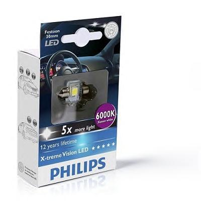 129416000KX1 Лампа Fest T14 12V 1W LED 6000K SV8,5-30/12