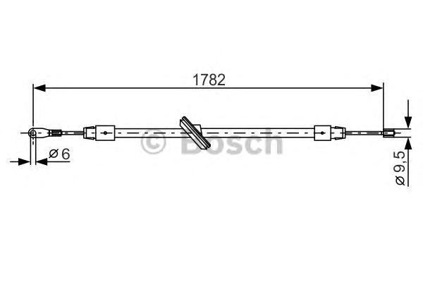 1987477902 Трос ручного тормоза MB W163 1782мм