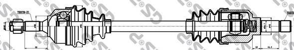 210147 Привод в сборе CITROEN C2/C3 I 1.4HDI-1.6HDI 02- лев.