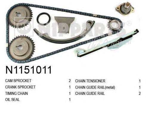 N1151011 Комплект цепи ГРМ NISSAN PRIMERA (P11) 2.0