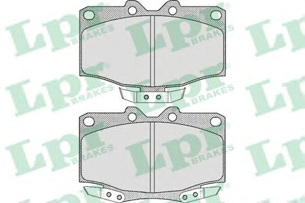 05P515 Колодки тормозные TOYOTA LAND CRUISER 2.5D/2.4 9095 передние