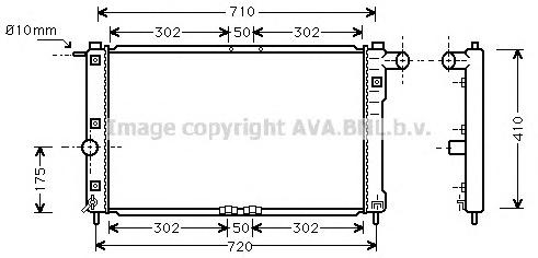 DWA2009 Радиатор системы охлаждения DAEWOO: NUBIRA (KLAJ) 1.6 16V/2.0 16V 97 - , NUBIRA Wagon (KLAJ) 1.6 16V/2.0 16V 97 - , NUBI