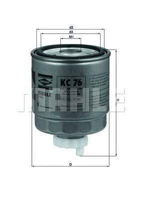 KC76 KC76_фильтp топливный! Renault 19 Lagun
