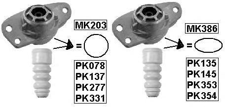 PK277 Защитный комплект амортизатора AUDI A3/A3 Cabrio