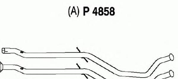P4858 Трубопровод выпускной PEUGEOT 407 1.8 04-