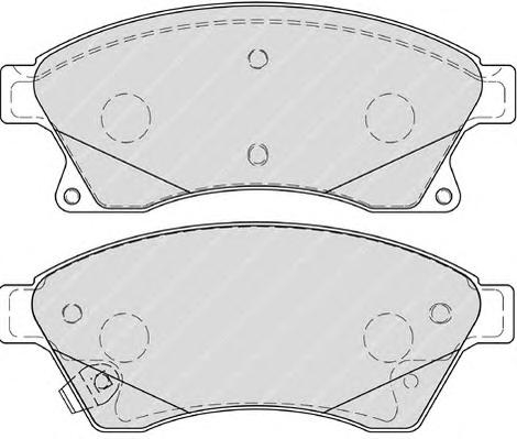 "FDB4262 Колодки тормозные CHEVROLET CRUZE/OPEL ASTRA J 15"" 10- передние"