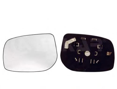 6431267 Стекло зеркала левого c подогревом, сферическое