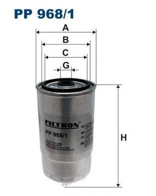 PP9681 Фильтр топливный ALFA ROMEO/FIAT/LANCIA 1.9-2.4 JTD