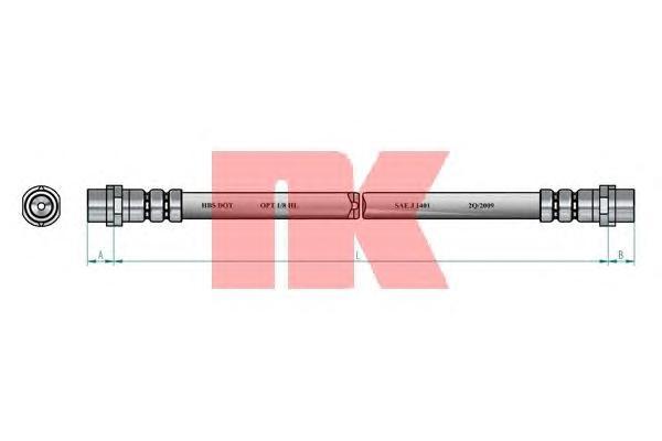 854764 Шланг тормозной AUDI 100 90-94/A6 95-97 270mm. перед.