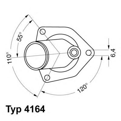 416492D Термостат OPEL KADETT 1.8-2.0 87-93