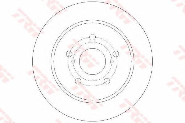 DF6173 Диск тормозной SUZUKI SX4 06- (пр-во Япония) задний D=278мм.
