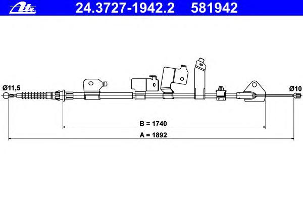 24372719422 Трос стояночной тормозной системы задний левый